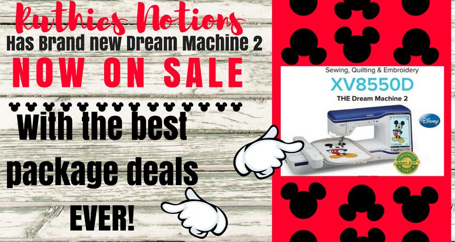 Brother Dream Machine XV8550D Embroidery and Sewing Machine