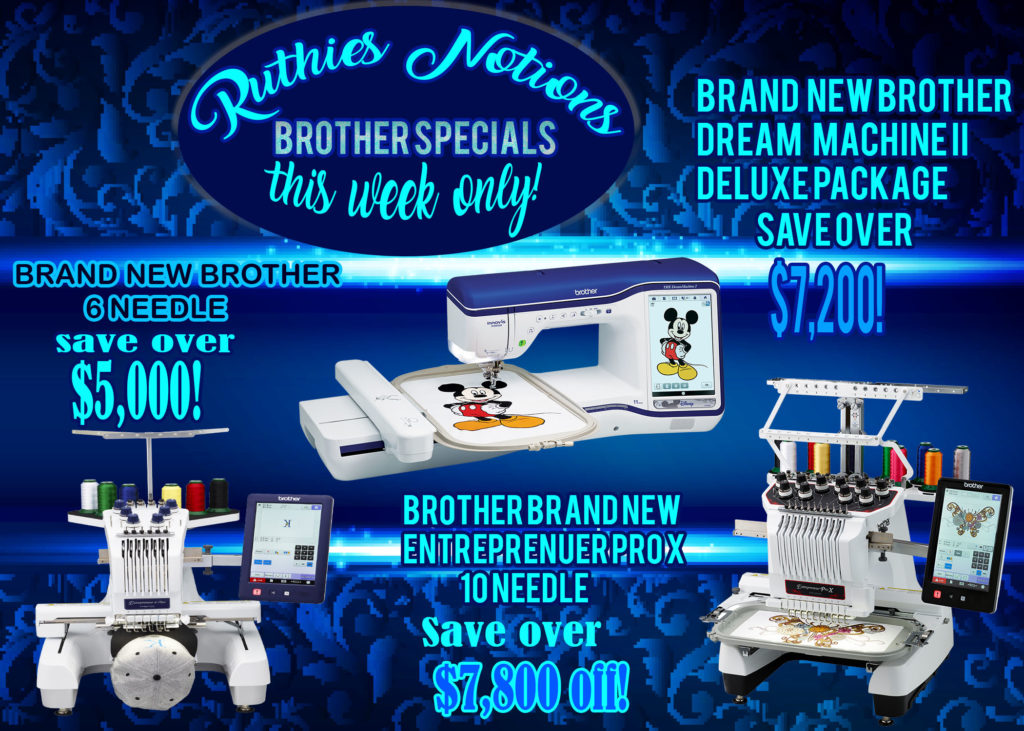 Brother Sale 3 Machines