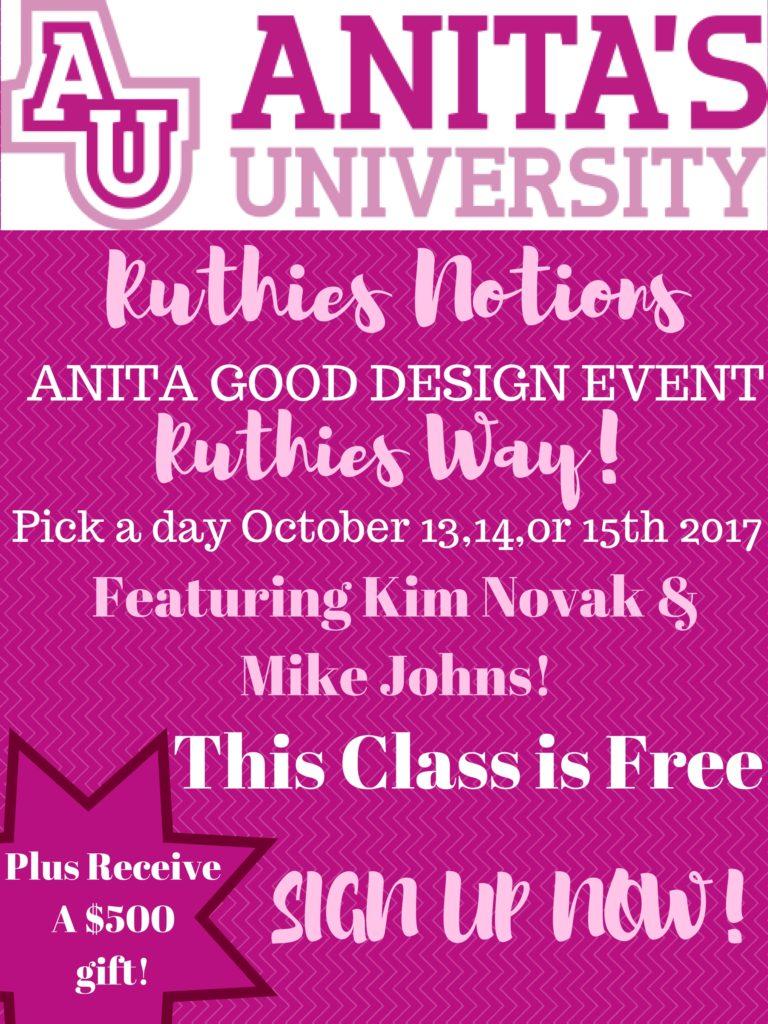 Anita Good Design Class Oct