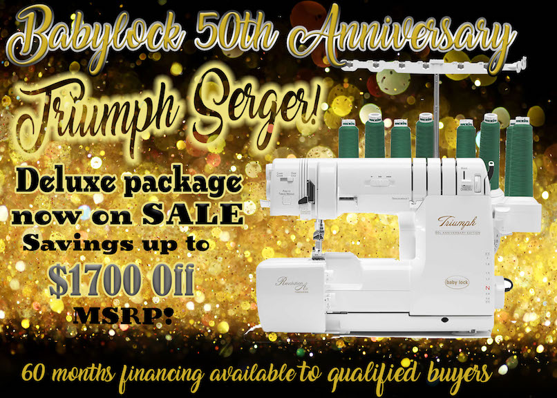 Triumph Serger Deluxe Package