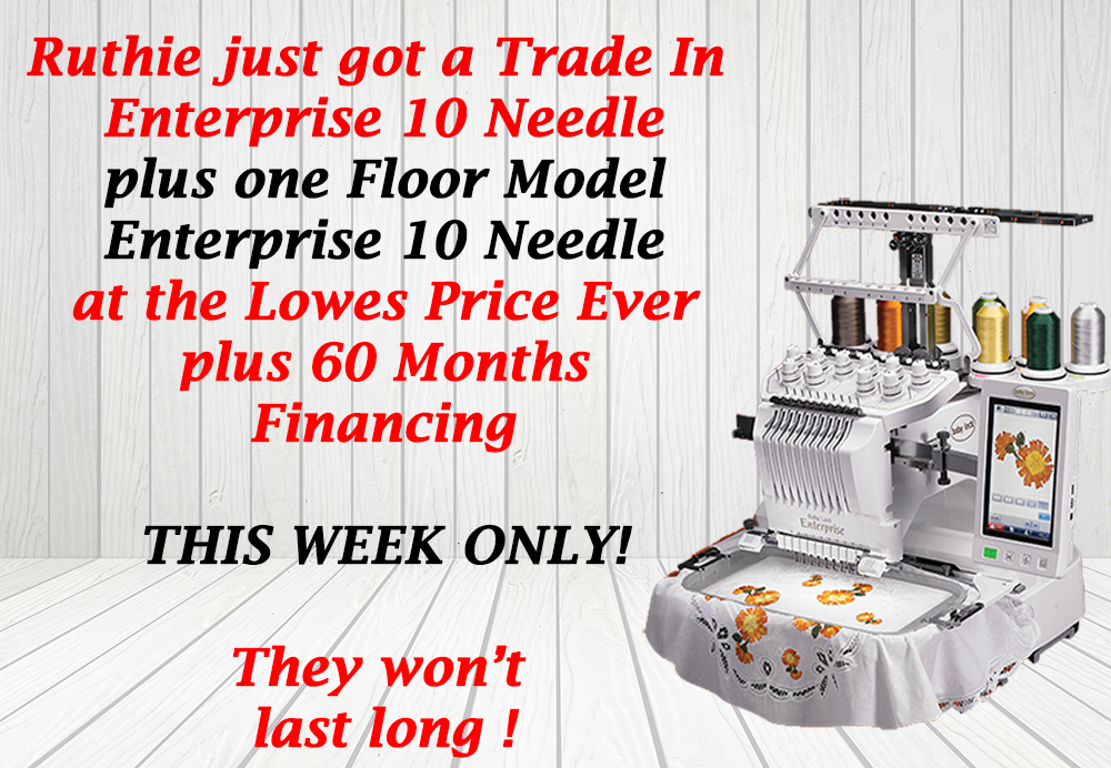 Baby Lock Enterprise Embroidery Machine