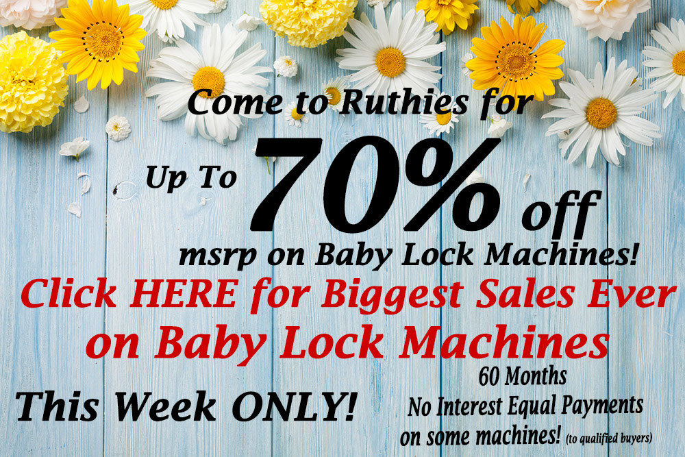 Baby Lock Machine Sales