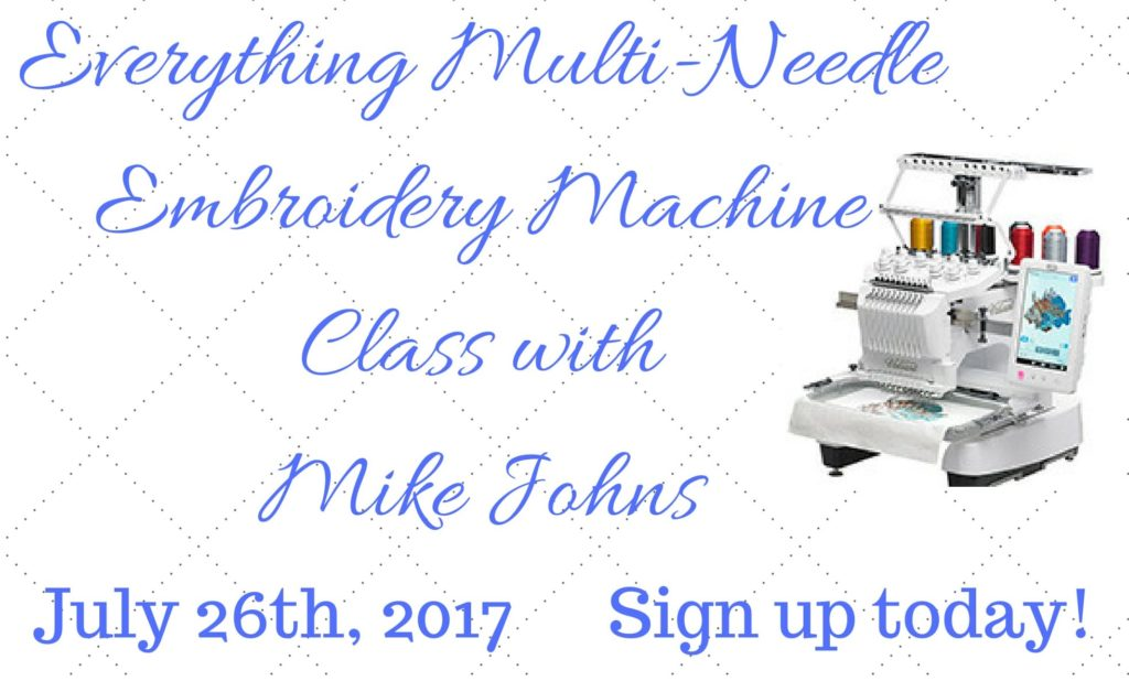 Baby Lock Multi-Needle Embroidery Machine Class