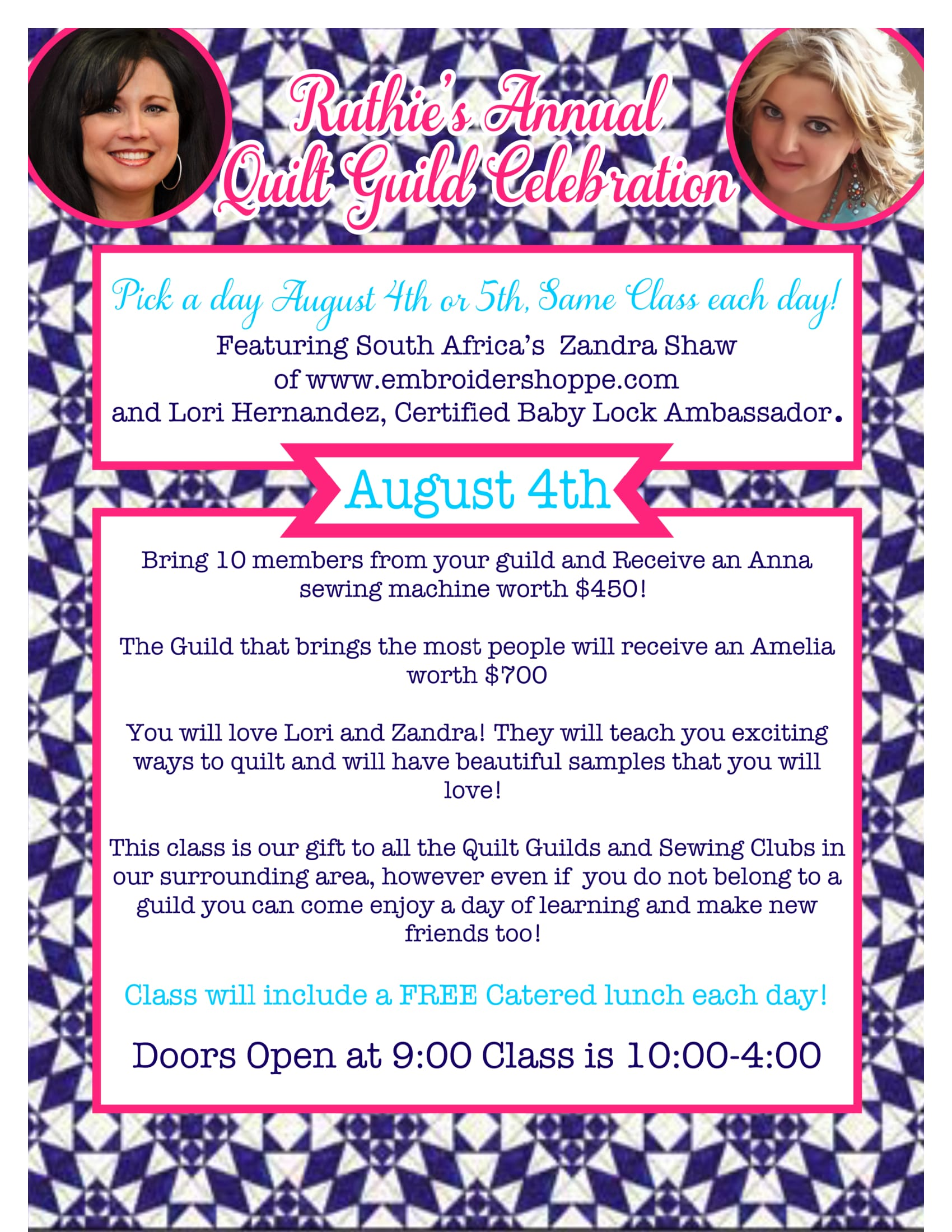 Quilt Guild Aug 4th