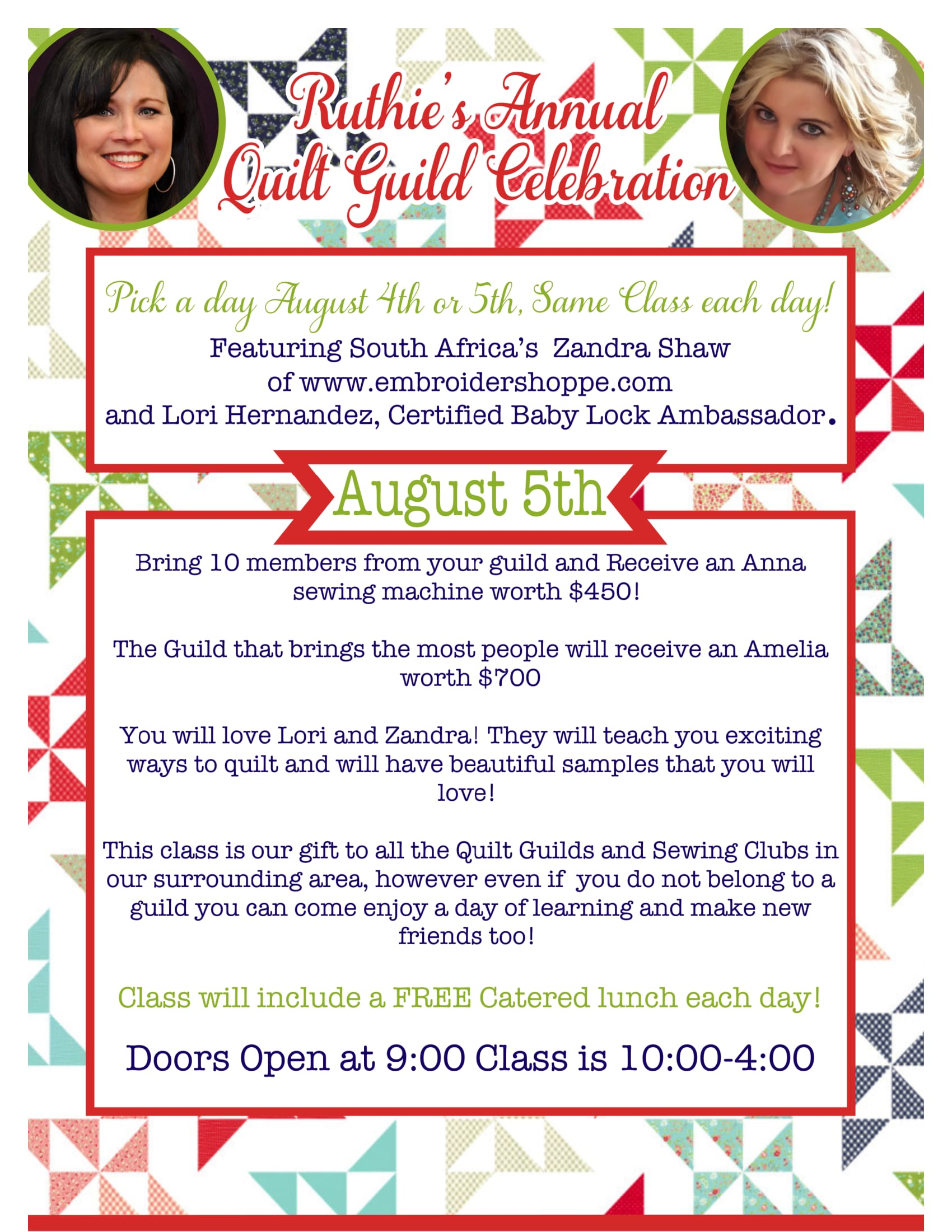 Quilt Guild Aug 5th