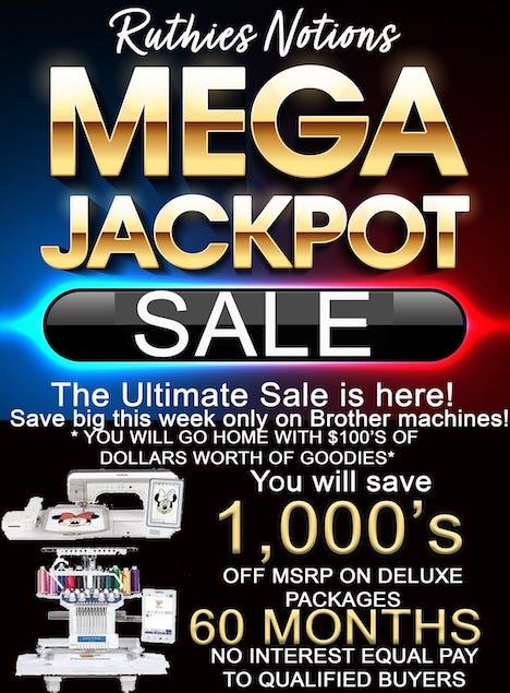 BROTHER MEGA JACKPOT SALE