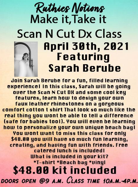 Scan n Cut make and take april 30