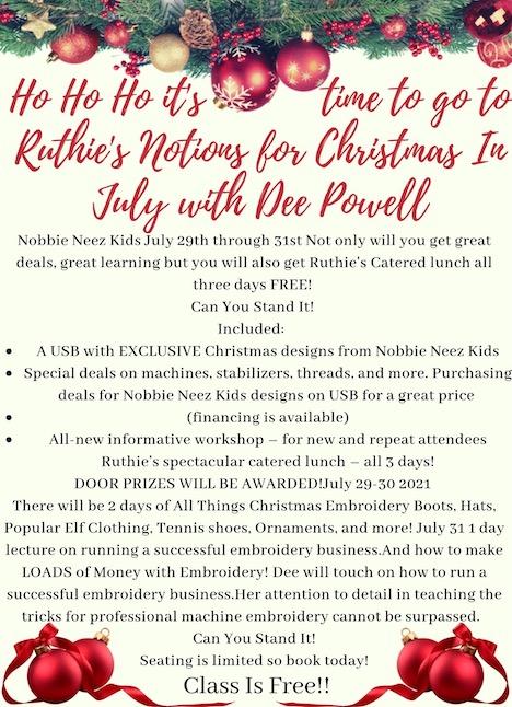Christmas in July Dee Powell