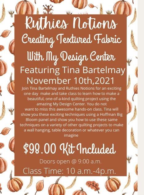 Tina Bartelmay Nov 10th