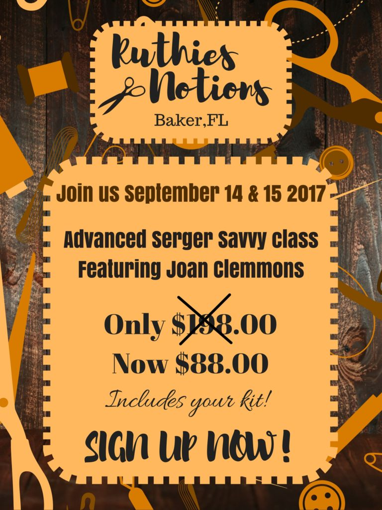 Advanced Serger Savvy Ruthies Notions