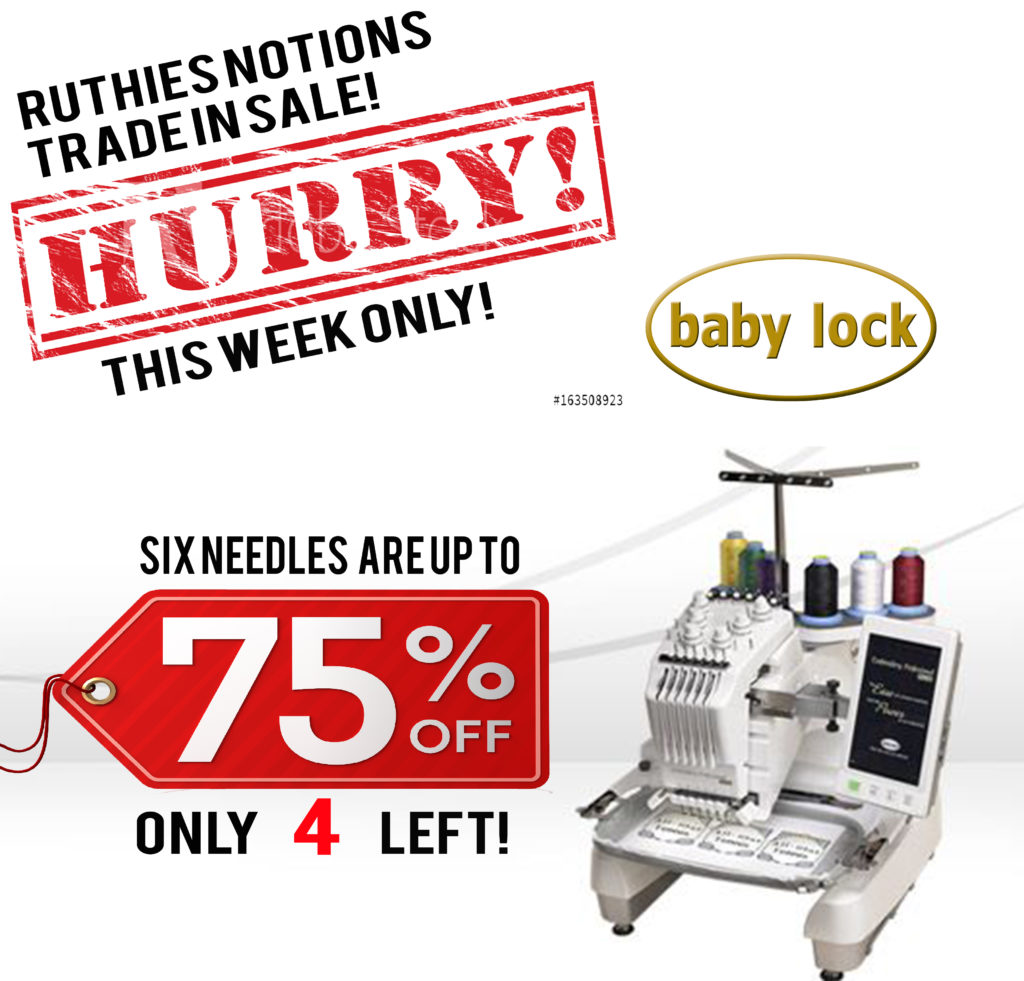Baby Lock Endurance Six-Needle Sale