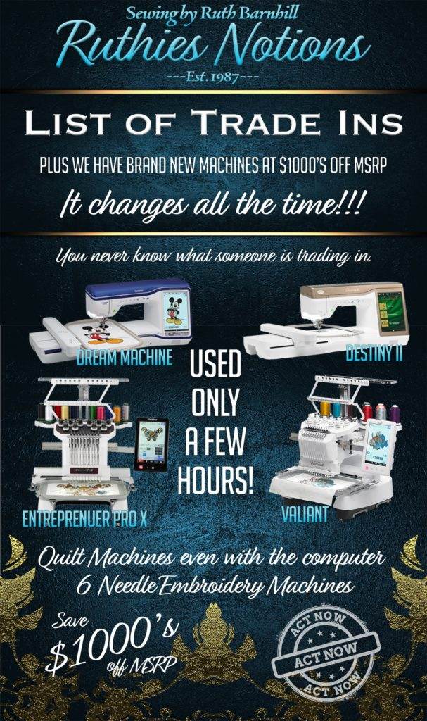 Baby Lock and Brother Machine Sales