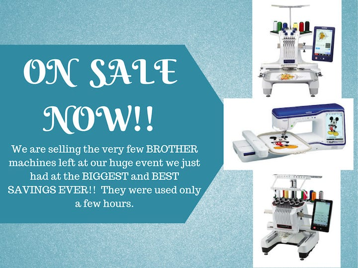 Brother Machine Sale