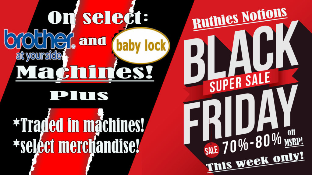 Brother and Baby Lock Black Friday Ad