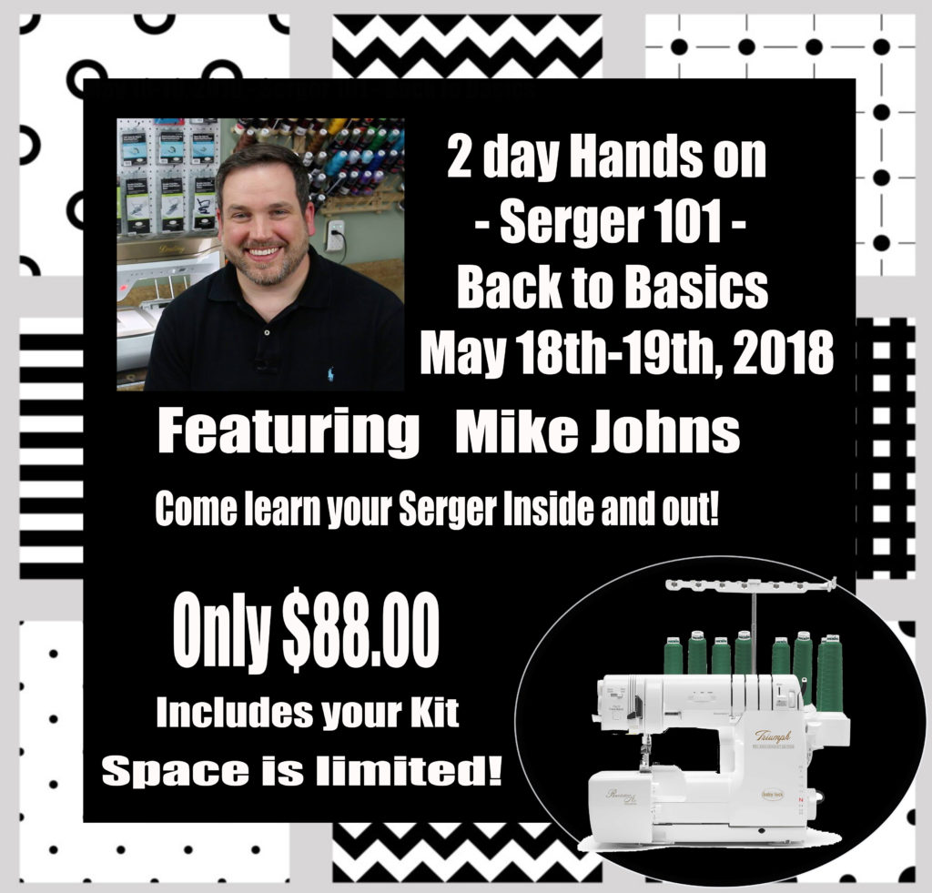 Mike Johns hands on serger May