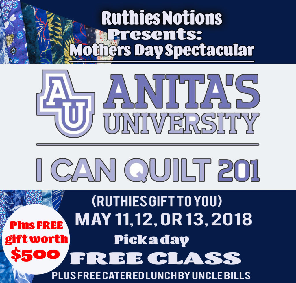 Ruthies Notions Anita i can quilt
