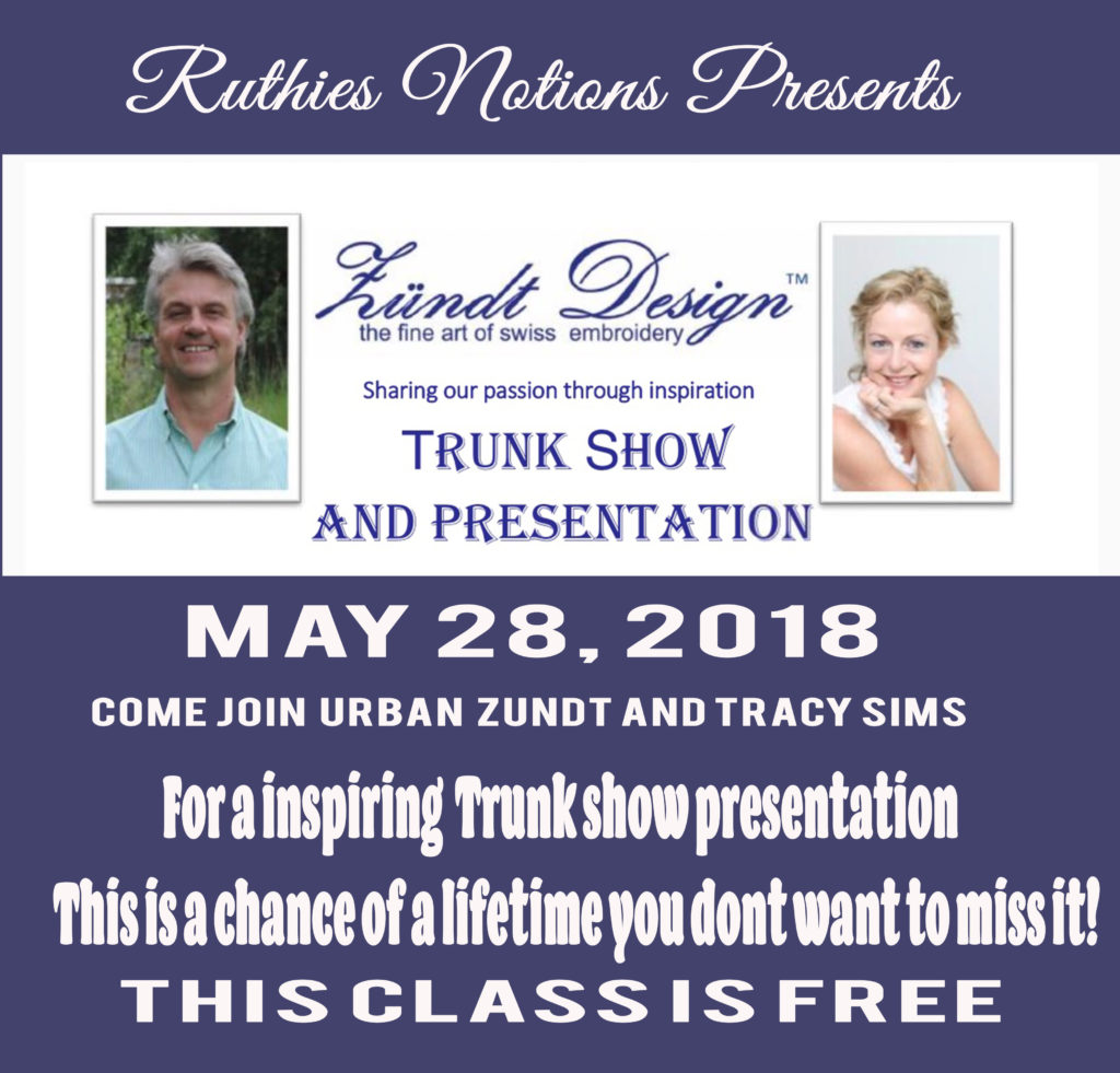 Urban Zundt and Tracy Sims Trunk Show