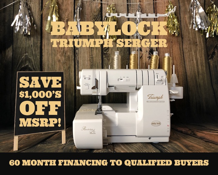 Baby Lock Triumph Serger Sale