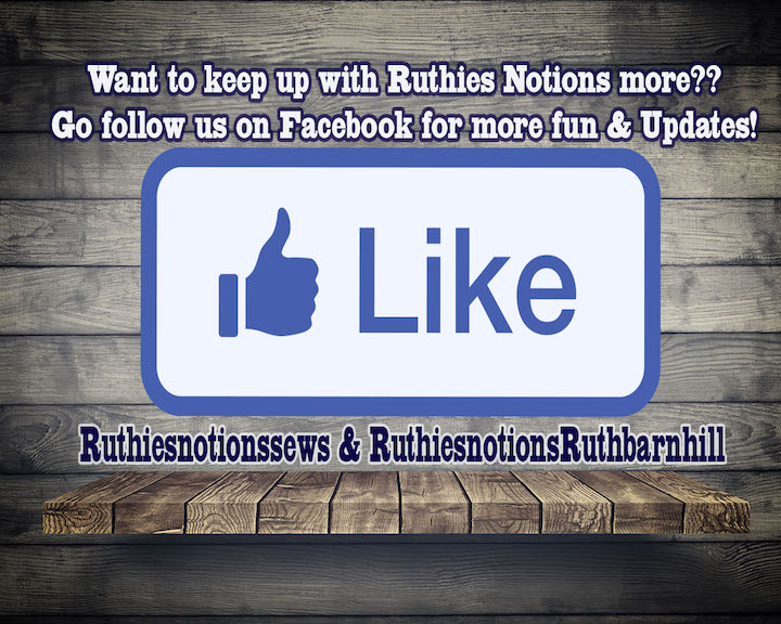 Ruthies Notions on FaceBook