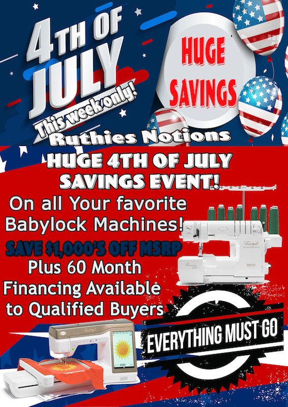 Babylock fourth of july ad