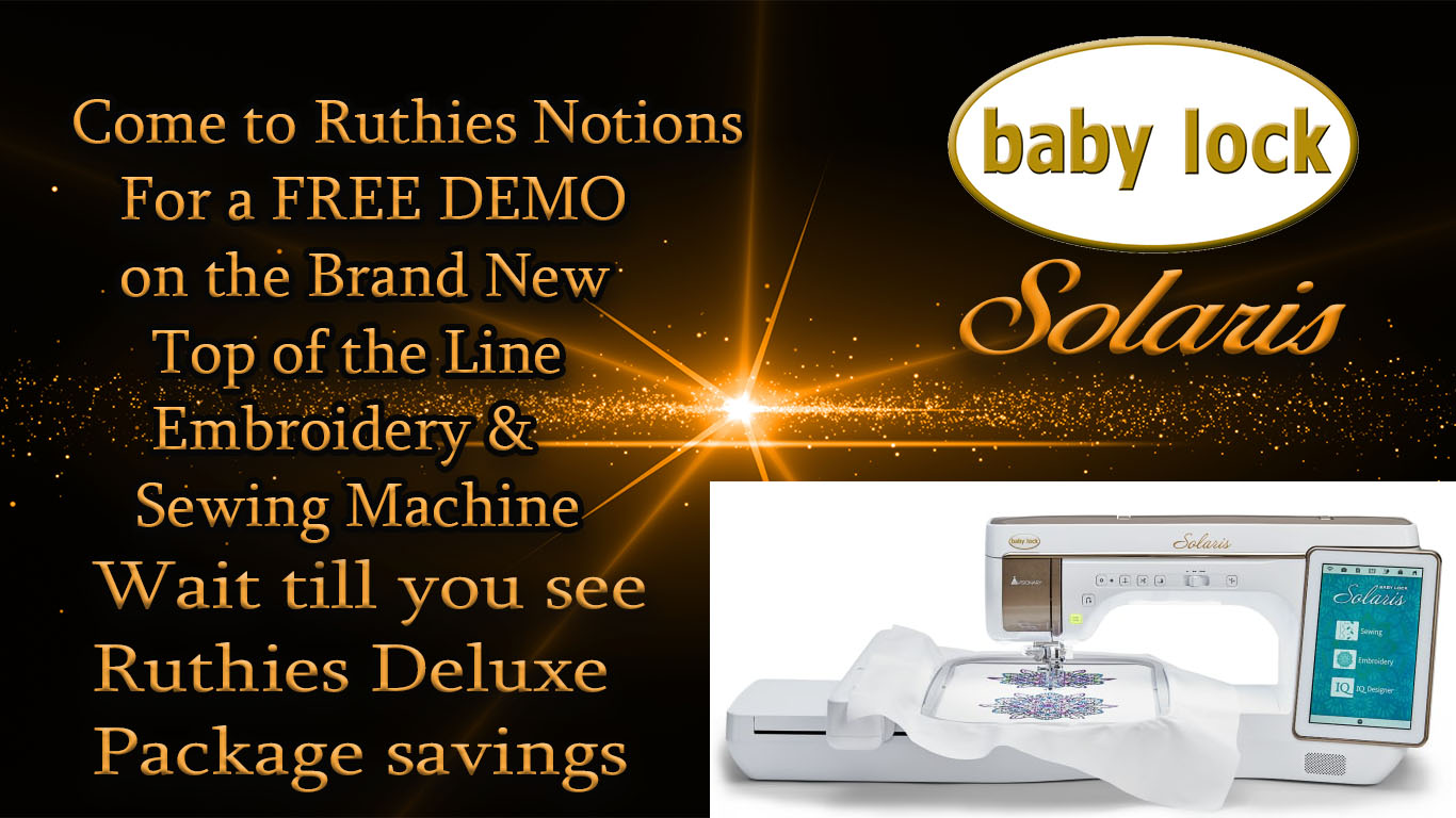 Baby Lock Machine Sales And Specials Ruthie S Notions