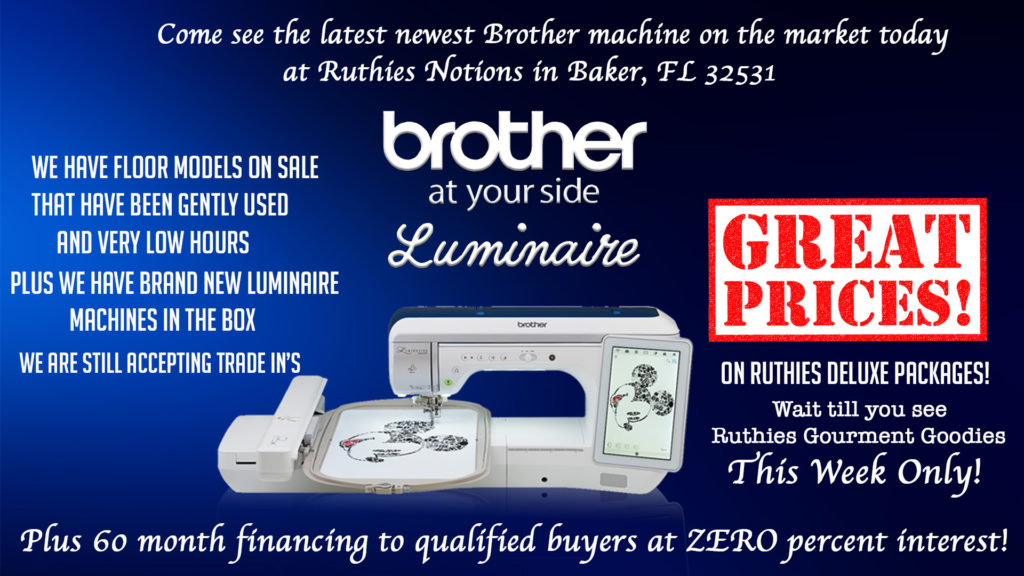 Brother Machine Sales And Specials Ruthie's Notions Unique Sewing Machines Plus