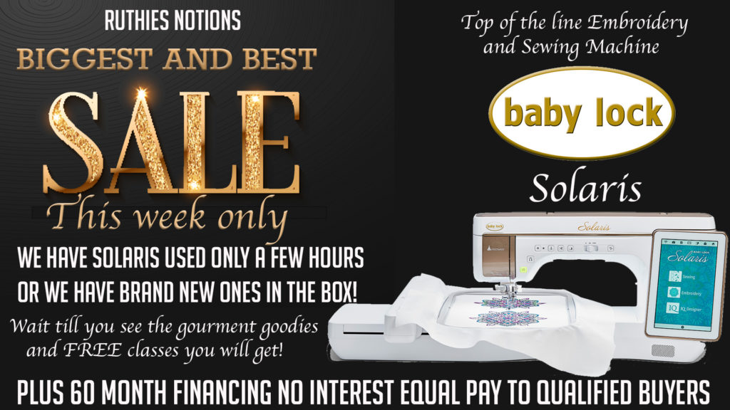Baby Lock Machine Sales and Specials | Ruthie's Notions