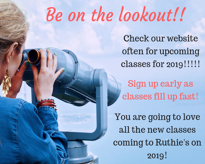 New Classes at Ruthies