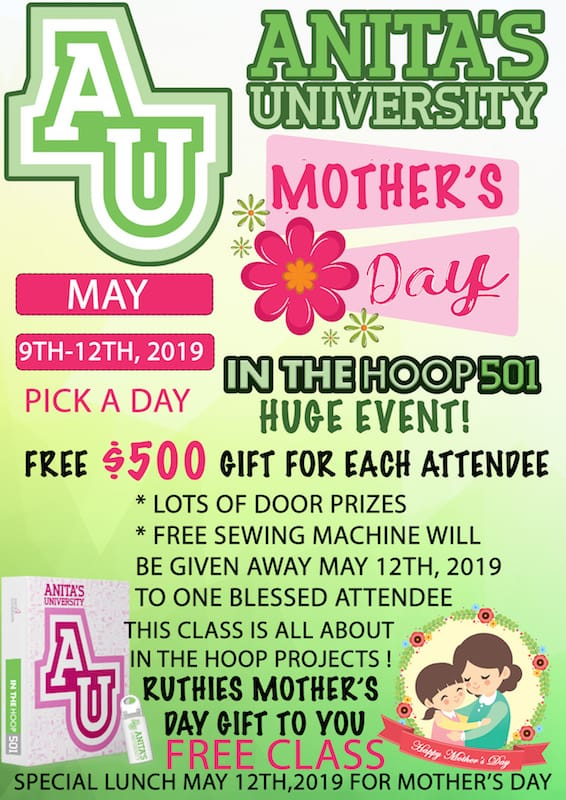 Anitas University Mothers Day Weekend