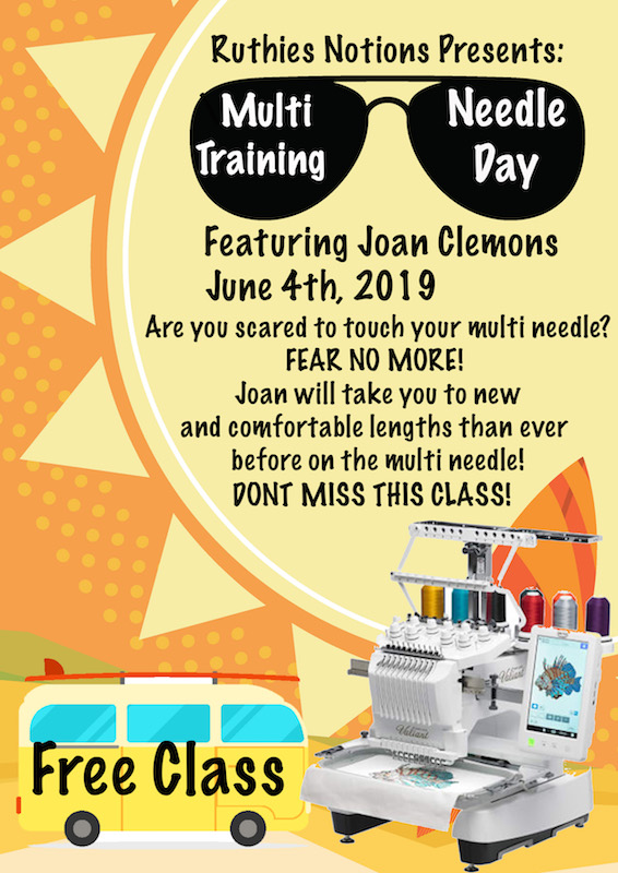 Multi Needle Training Day With Joan Clemons
