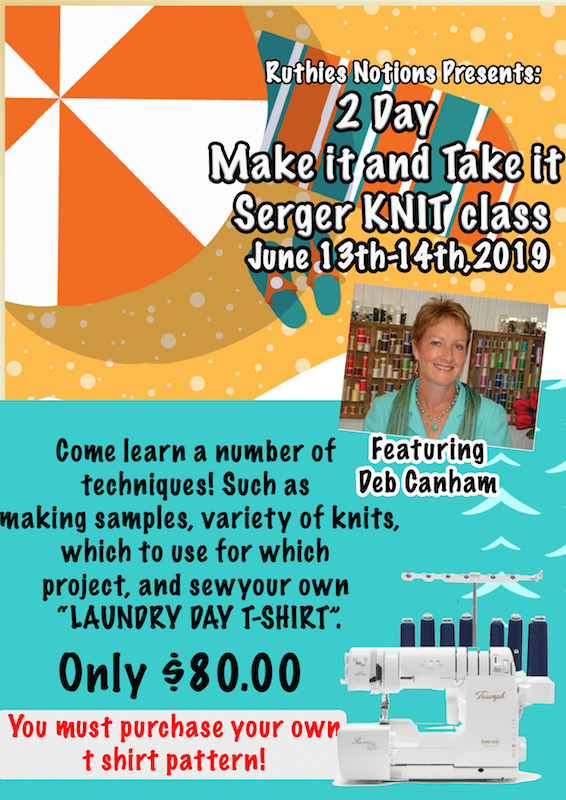 Serger Knit Class with Deb Canham