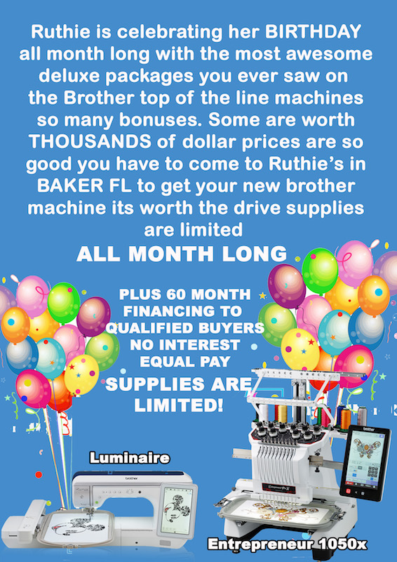 Brother Machine Specials