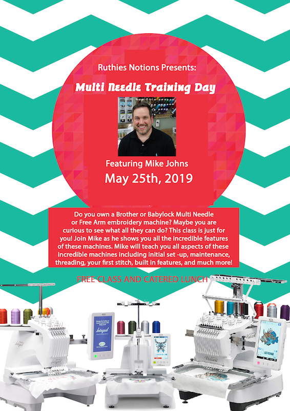 Multi Needle Training Day May 25th with Mike Johns