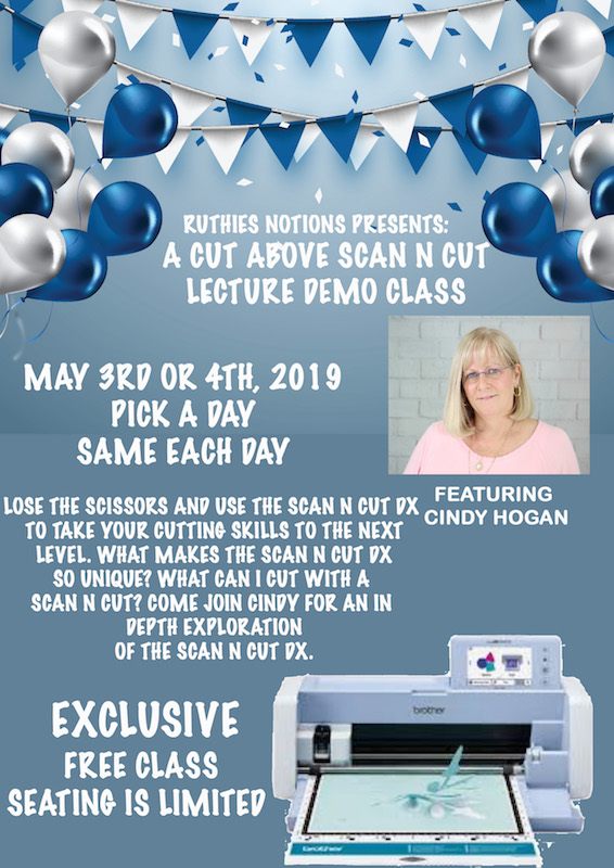 Scan N Cut Lecture Demo with Cindy Hogan