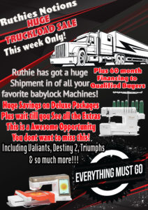 Babylock-Truckload