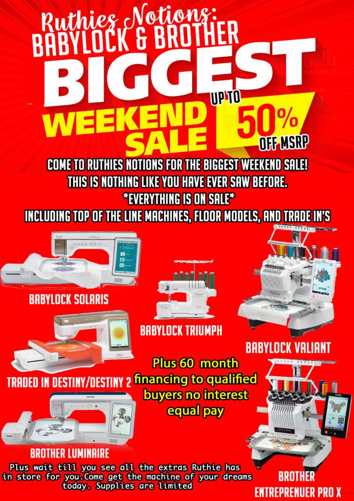 biggest weekend sale