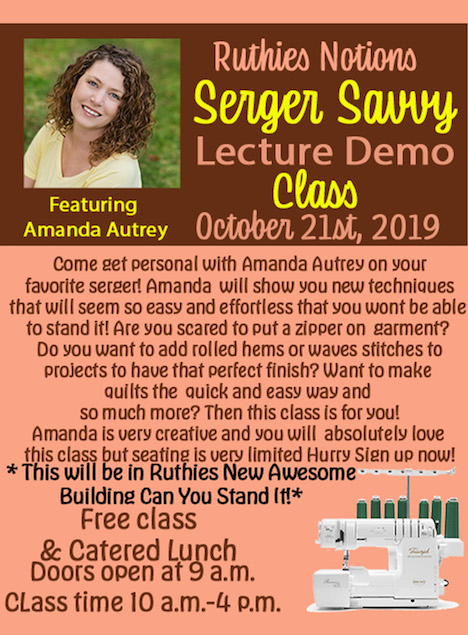 Serger Savvy Lecture Demo