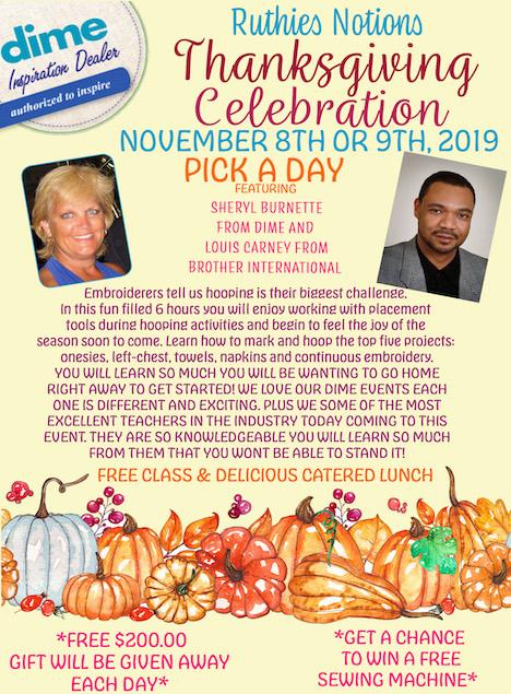 thanksgiving celebration nov 8th or 9th