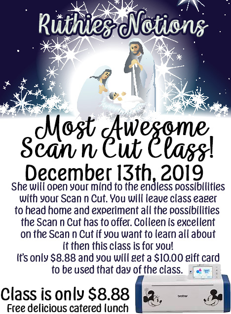 Scan n cut Class Colleen Sweetman
