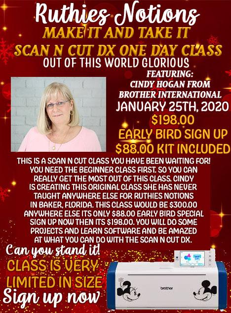 Cindy hogan make it and take it scan n cut class