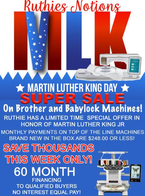 MLK super sale