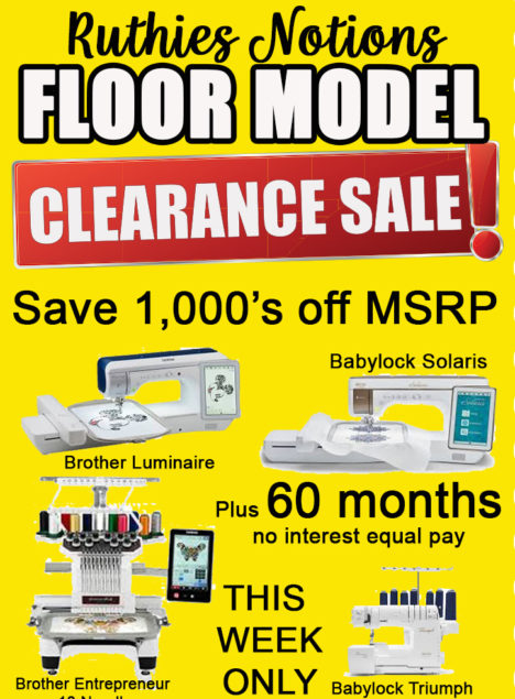 floor model clearance sale 2020