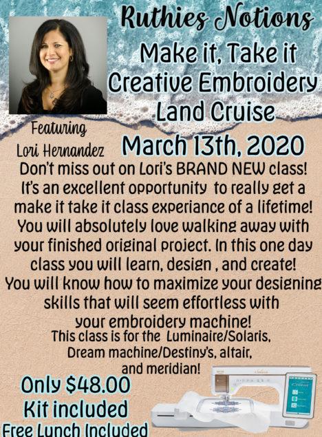 make it take it creative embroidery lori hernandez