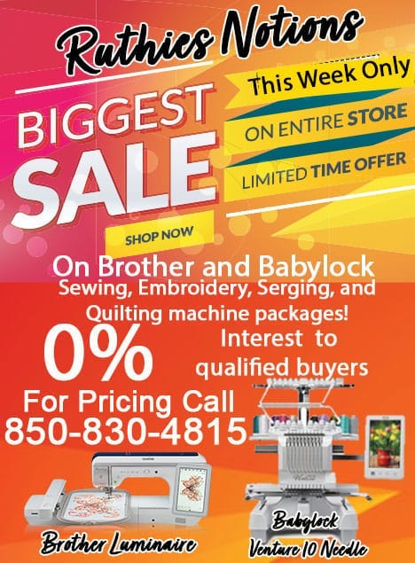 Brother and Babylock Machine Specials