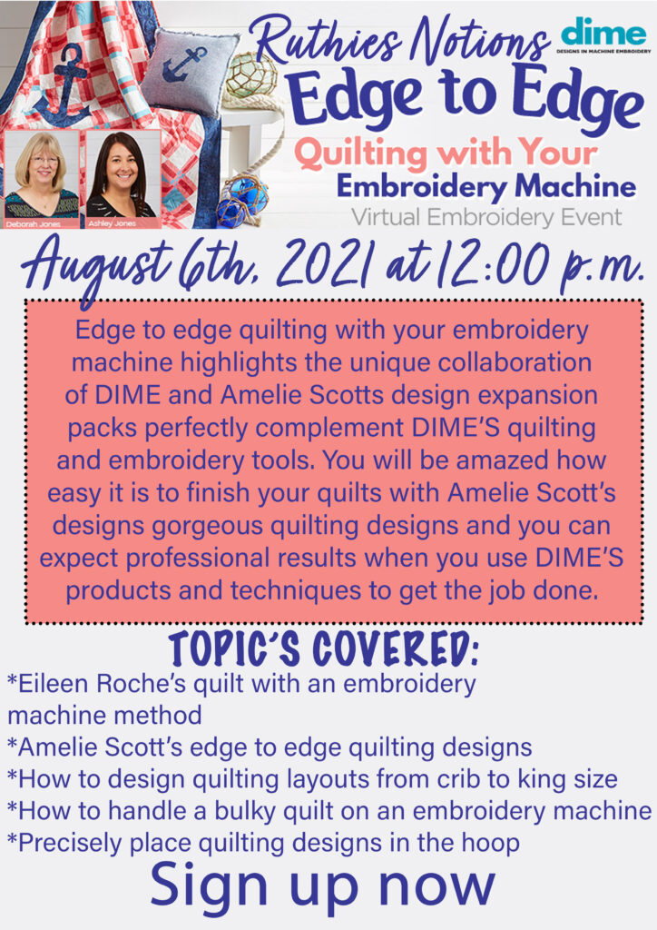 Edge to edge quilting august 6th