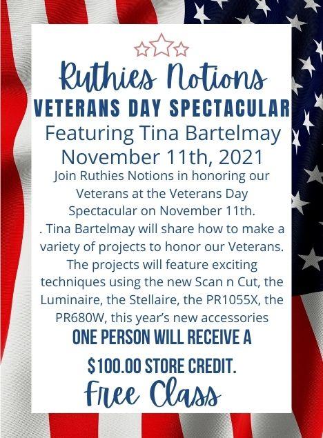 Veterans Day Class Nov 11th